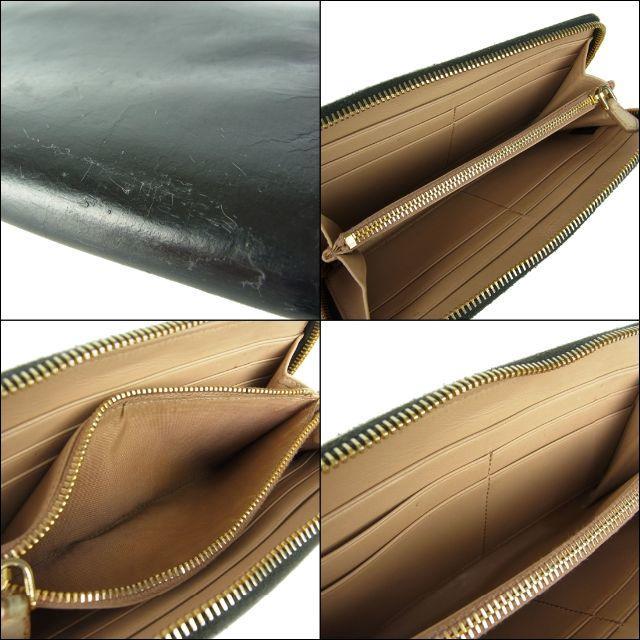 PRADA(プラダ)のプラダ 正規品 リボン レザー ラウンドファスナー 長財布 Gカード 箱付き レディースのファッション小物(財布)の商品写真