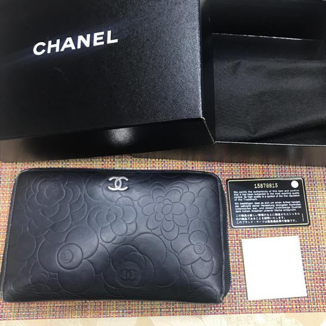 CHANEL(シャネル)のCHANEL❤︎カメリア❤︎財布❤︎中古 レディースのファッション小物(財布)の商品写真