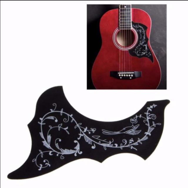 アコースティックギター  ピックガード ハミングバードタイプ (ブラック) 楽器のギター(アコースティックギター)の商品写真