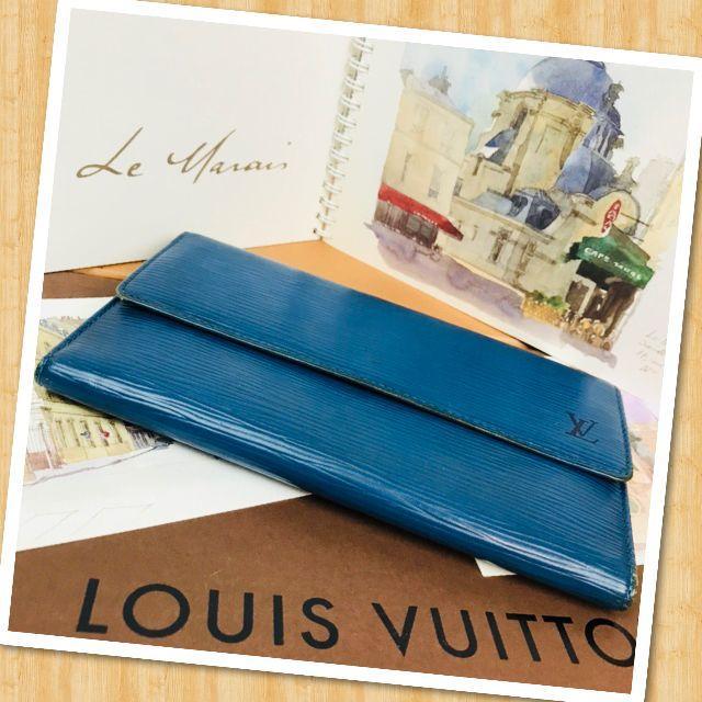LOUIS VUITTON(ルイヴィトン)の❤鑑定済み❤正規品❤ルイヴィトン❤エピ❤ブルー❤s492 レディースのファッション小物(財布)の商品写真