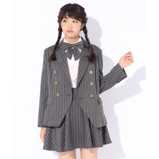 レピピアルマリオ(repipi armario)のレピピアルマリオ Wボタンストライプジャケット 卒服(ドレス/フォーマル)