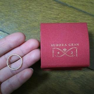 オーロラグラン(AURORA GRAN)のAURORAGRAN K10 イエローゴールド プレーンリングM #9(リング(指輪))