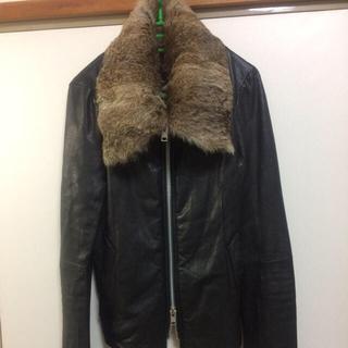 エカム(EKAM)のEKAM 超ロング袖羊革ジャケット 中綿入りで暖かさバッチリ L 超美品 エカム(レザージャケット)