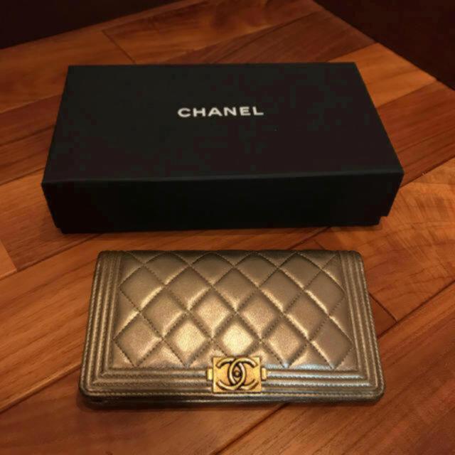 CHANEL(シャネル)の正規品♥ボーイシャネル♥日本未入荷♥長財布 レディースのファッション小物(財布)の商品写真