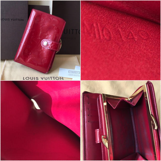 LOUIS VUITTON(ルイヴィトン)のルイ・ヴィトン二つ折り財布・ヴェルニ/ポルトモネ ヴィエノワM91980 レディースのファッション小物(財布)の商品写真