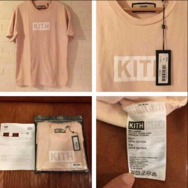 Supreme(シュプリーム)のKith Classic Logo Tee Light Pink メンズのトップス(Tシャツ/カットソー(半袖/袖なし))の商品写真