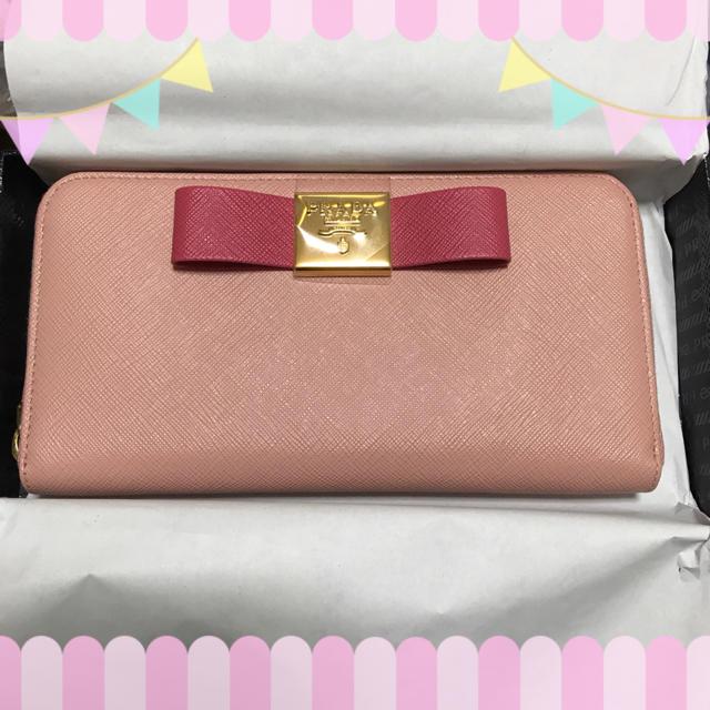 PRADA(プラダ)の♡レア♡日本限定♡新品未使用♡リボン付きバイカラー長財布♡ レディースのファッション小物(財布)の商品写真