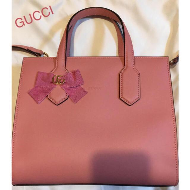 3371cc5334ff Gucci - 美品✨日本限定モデルGUCCI GGリボンピンク2wayバッグ 保存袋 ...