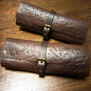 SALE!牛革製 手縫いの巻き巻きペンケース(その他)