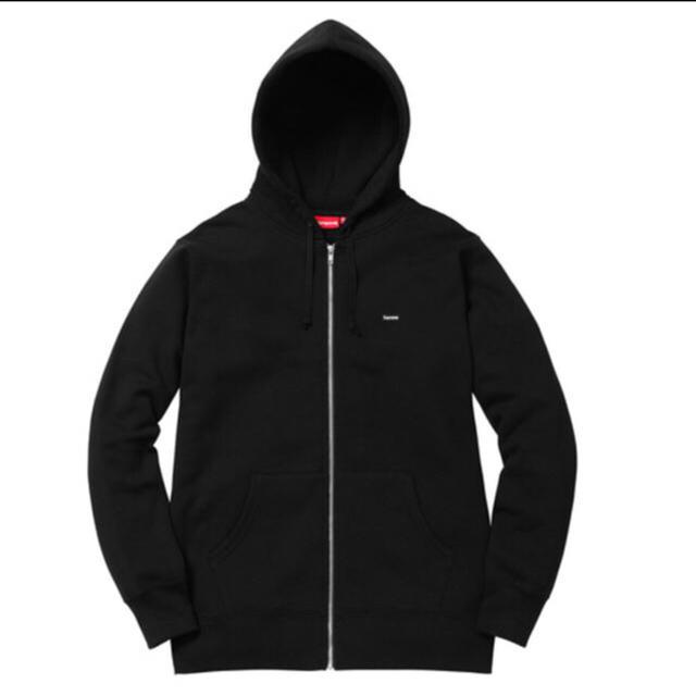 Supreme(シュプリーム)の値下げSUPREME Small Box Zip Up Sweatshirt 黒 メンズのトップス(パーカー)の商品写真