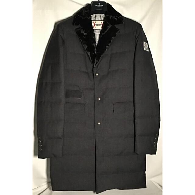 MONCLER(モンクレール)の【感謝セール】MONCLER GAMME BLEU ラム ファートリム コート0 メンズのジャケット/アウター(ダウンジャケット)の商品写真