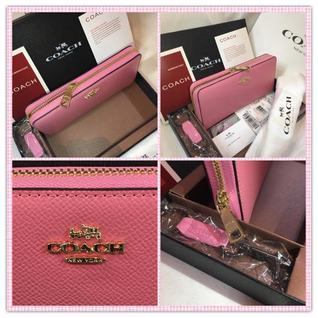 COACH(コーチ)の☪️COACHF52372⭐️フルセット長財布箱キーホルダ保存袋Shop袋カード レディースのファッション小物(財布)の商品写真