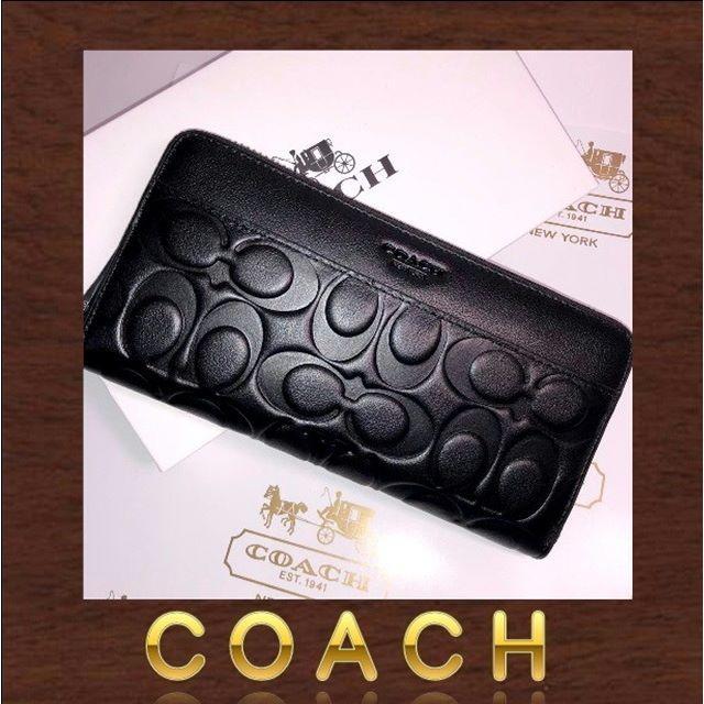 COACH(コーチ)のCOACH シグネチャー新品 黒 F74999長財布 ブラック シグネチャー  レディースのファッション小物(財布)の商品写真