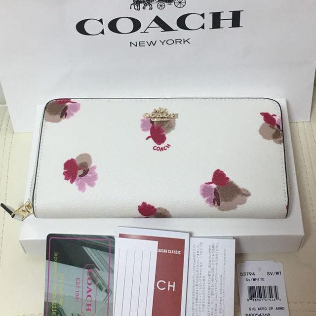 COACH(コーチ)のコーチ長財布(フローラル) レディースのファッション小物(財布)の商品写真