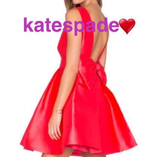 ケイトスペードニューヨーク(kate spade new york)のKate spade‼️ ♥︎バックおリボン ワンピース♥︎ 普段使いやパーティ(ミニワンピース)