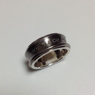 ティファニー(Tiffany & Co.)のTiffany & Co.  1837   シルバー・チタンリング  16.5号(リング(指輪))