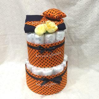 【送料無料】出産祝いで人気のおむつケーキ(ロンパース)