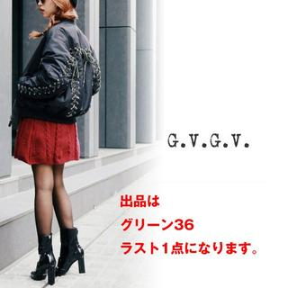 ジーヴィジーヴィ(G.V.G.V.)の【ラスト1点】新品 G.V.G.V.正規品 LACE UP MA-1グリーン36(ナイロンジャケット)