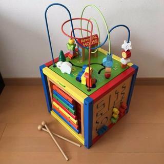木のおもちゃ 5パターン遊び・収納BOXタイプ 知育玩具(知育玩具)