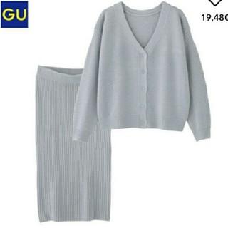ジーユー(GU)のGU マルチウェイセットアップ ブルー XL(セット/コーデ)