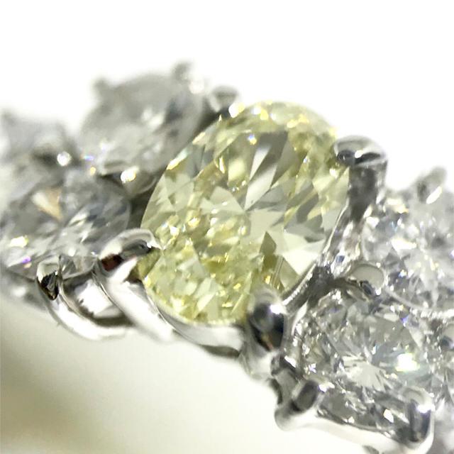 ✨SI1 ファンシー✨D 0.349 &0.89ct ダイヤモンド リング レディースのアクセサリー(リング(指輪))の商品写真