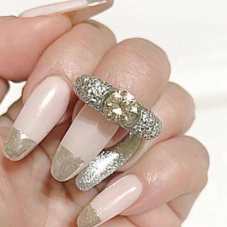 天然 ダイヤモンド リング pt900 3ctアップ 希少(リング(指輪))