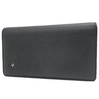 シャネル(CHANEL)のシャネル カメリア ココ 2つ折り長財布 レディースウォレット カーフレザー (財布)