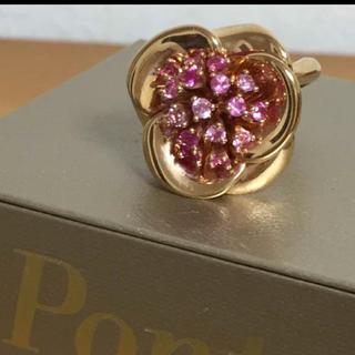 ポンテヴェキオ(PonteVecchio)の新品 ポンテヴェキオ ピンクサファイア フラワーリング(リング(指輪))