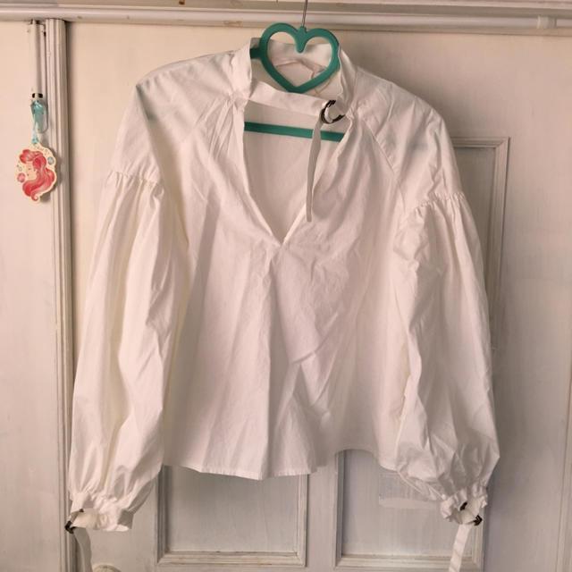 ZARA(ザラ)のZARA ボリュームスリーブシャツ レディースのトップス(シャツ/ブラウス(長袖/七分))の商品写真