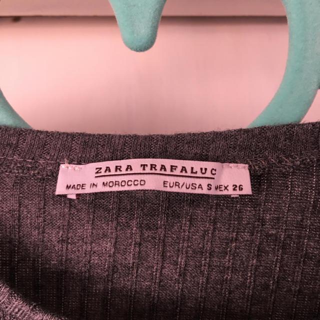 ZARA(ザラ)のマーブル様 専用 ZARA ベルスリーブ リブカットソー レディースのトップス(カットソー(長袖/七分))の商品写真