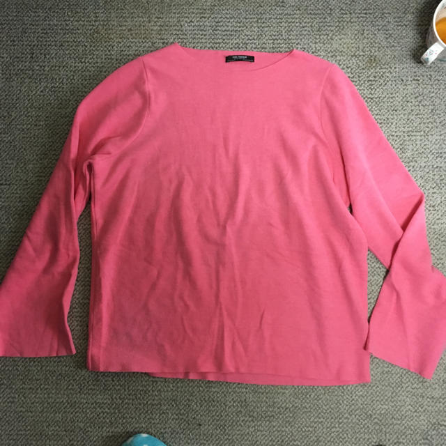 ZARA(ザラ)のザラ ピンク トップス レディースのトップス(ニット/セーター)の商品写真