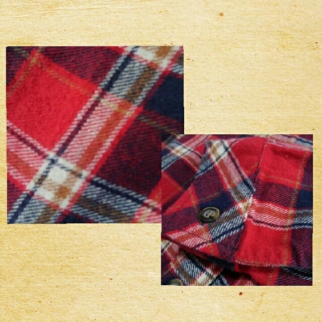しまむら(シマムラ)のしまむら チェックシャツワンピース M レディースのワンピース(ひざ丈ワンピース)の商品写真