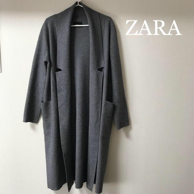 ZARA(ザラ)のZARA ロングコーディガン レディースのジャケット/アウター(ガウンコート)の商品写真
