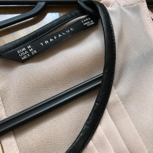 ZARA(ザラ)のZARA シフォントップス ピンク レディースのトップス(シャツ/ブラウス(半袖/袖なし))の商品写真