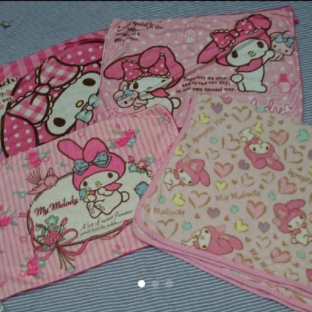 しまむら(シマムラ)のマイメロ 枕カバー 毛布 インテリア/住まい/日用品の寝具(枕)の商品写真