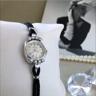 timeless design 92dd2 9dd7d クリーニング済み✨8Pダイヤ 14K無垢 ハミルトン 時計 アンティーク 手巻き