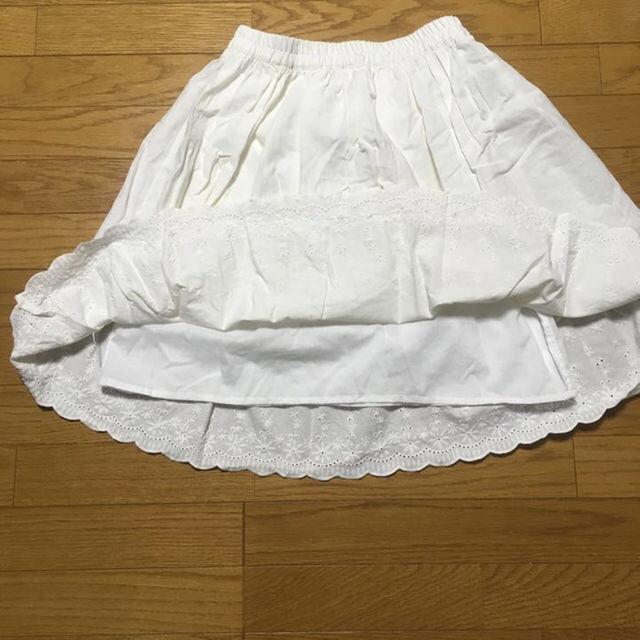しまむら(シマムラ)のしまむら×OLIVE des OLIVE 白スカート レディースのスカート(ひざ丈スカート)の商品写真