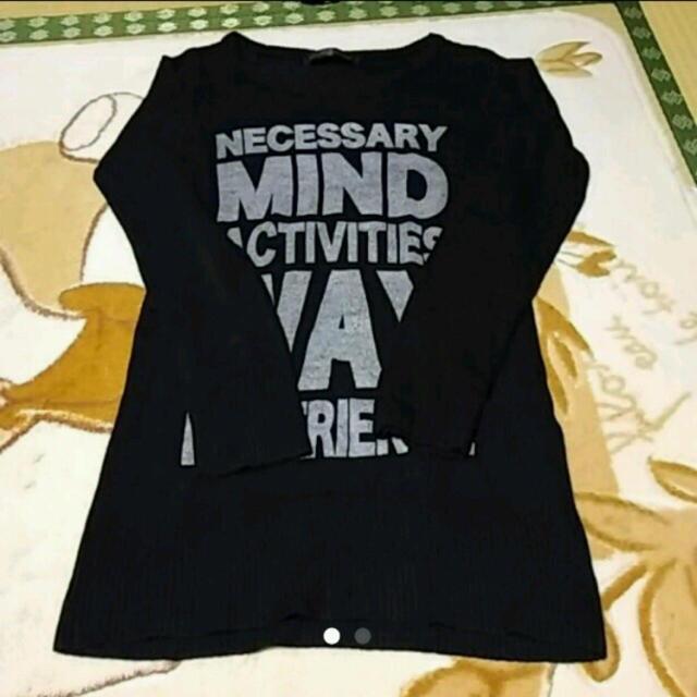 しまむら(シマムラ)のしまむら ロゴニット 黒 レディースのトップス(ニット/セーター)の商品写真