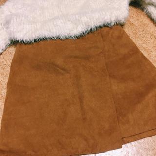ローリーズファーム(LOWRYS FARM)のlowrys farm スエード ミニスカート 未使用(ミニスカート)