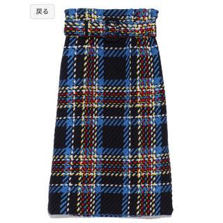 ミラオーウェン(Mila Owen)のベルト付きタイトスカート(ひざ丈スカート)