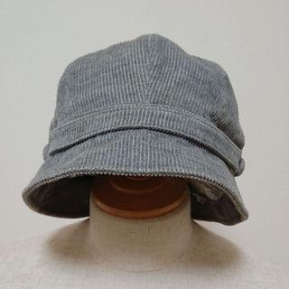 MUJI (無印良品) - 無印良品  コーデュロイ  グレー 帽子