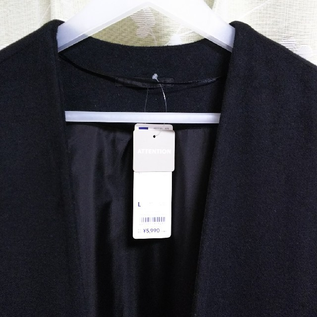 GU(ジーユー)の新品!GU フェイクファーポケットガウンコート レディースのジャケット/アウター(ガウンコート)の商品写真