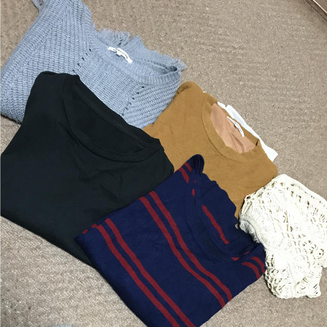 GU(ジーユー)のレディース♡まとめ売り♡トップス レディースのトップス(ニット/セーター)の商品写真
