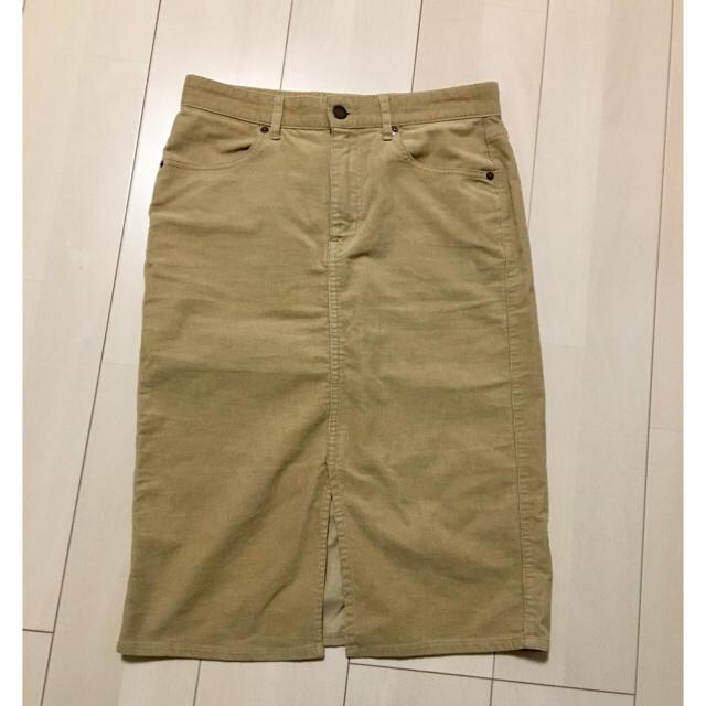 GU(ジーユー)のGU コーデュロイスカート レディースのスカート(ひざ丈スカート)の商品写真