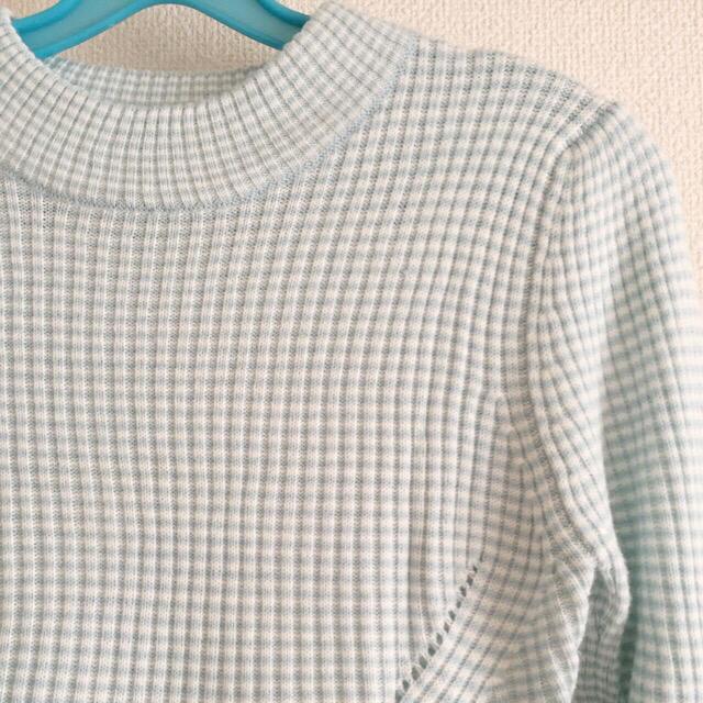 GU(ジーユー)の激安SALE!GU♡ライトブルーニットワンピ レディースのワンピース(ひざ丈ワンピース)の商品写真
