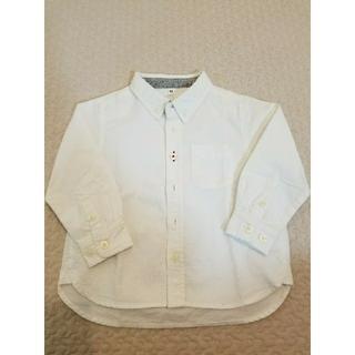 ムジルシリョウヒン(MUJI (無印良品))の無印良品 90cm 白シャツ(ブラウス)