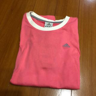 アディダス(adidas)のadidas長袖シャツ ピンク 新品 未使用 タグ付き(Tシャツ(長袖/七分))