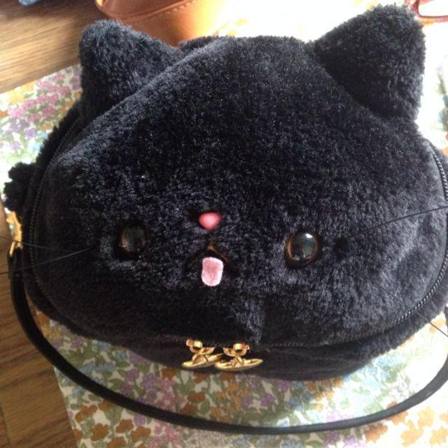 SWIMMER(スイマー)の黒ネココスメポーチ♡ レディースのファッション小物(ポーチ)の商品写真