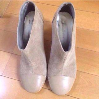 シェル(Cher)のcherキャンバスレザーブーティ値下げ(ブーツ)