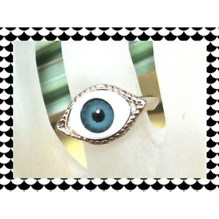 新品!大流行 ブルー義眼リング16号(リング(指輪))
